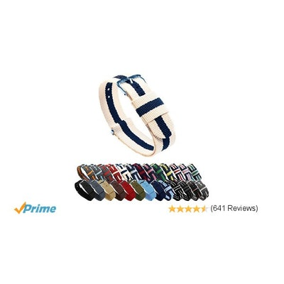 Amazon.com: BARTON Watch Bands - Choice of Color, Length & Width (18mm, 20mm, 22