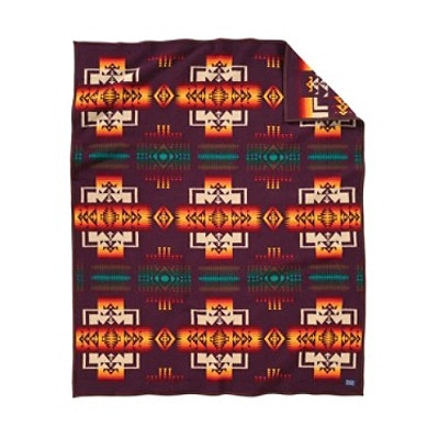 CHIEF JOSEPH BLANKET MAROON, KING