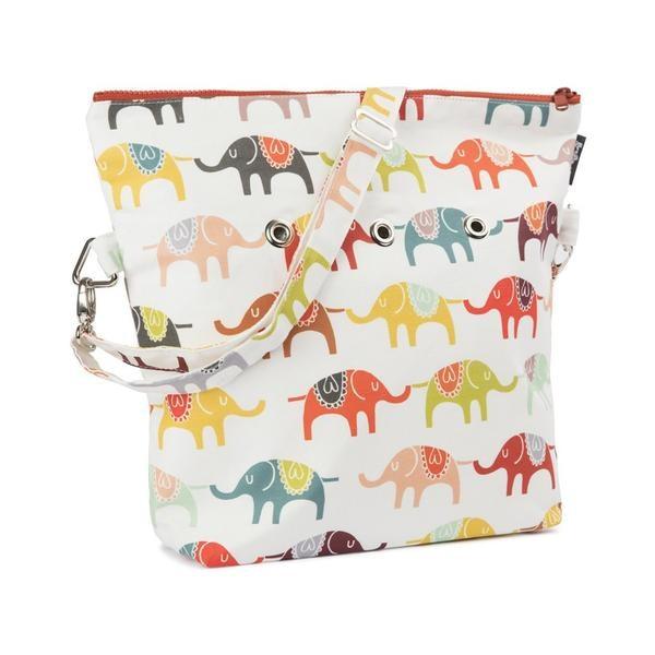 Yarn Pop Totable Knitting Bag - Elephant March