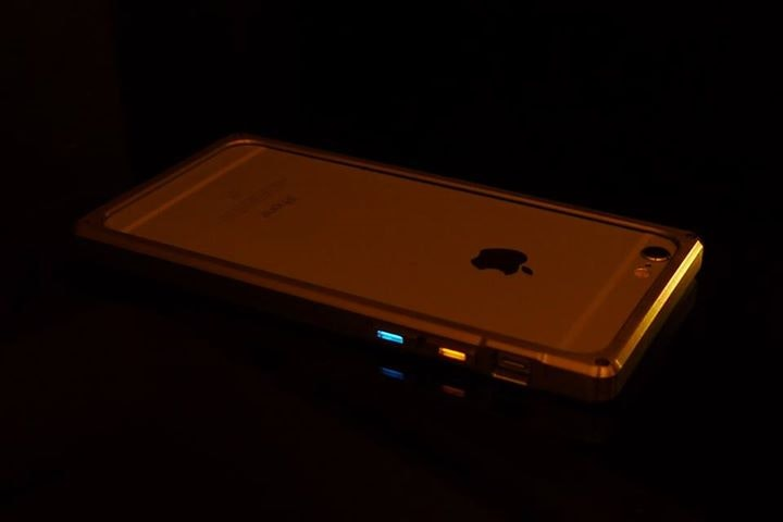 Veleno Designs - Titanium iPhone Case with Tritium Buttons
