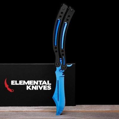 Real Blue Steel Butterfly 2 - Elemental Knives
