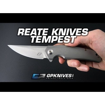 Liong Mah Design Tempest Titanium Flipper Reate Built Knife for Sale | GPKNIVES.