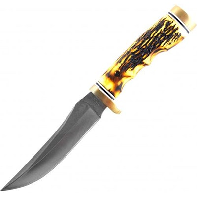 Schrade Uncle Henry 153UH Golden Spike Knife with Staglon Handle and Leather She