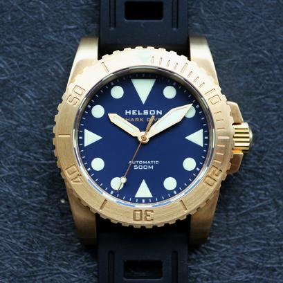 Helson shark diver 42 brass