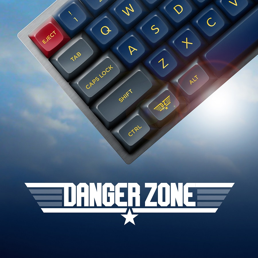Danger Zone SA Keycap Set Drop - Massdrop