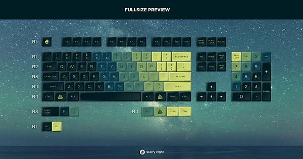 JellyKey Starry Night keycap set SA