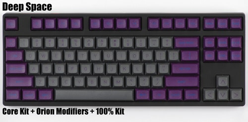 "DSA ""Deep Space"" Keycap Set - Pimpmykeyboard.com"