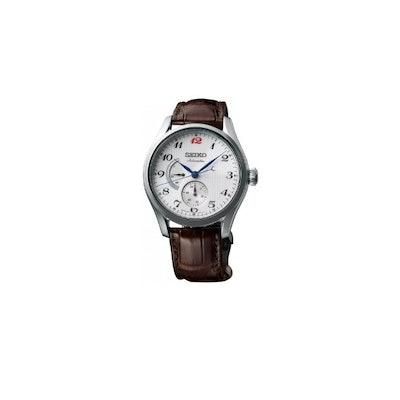 Amazon.com: SEIKO Presage SPB041J1 Multifunction Leather Man Silver: Watches