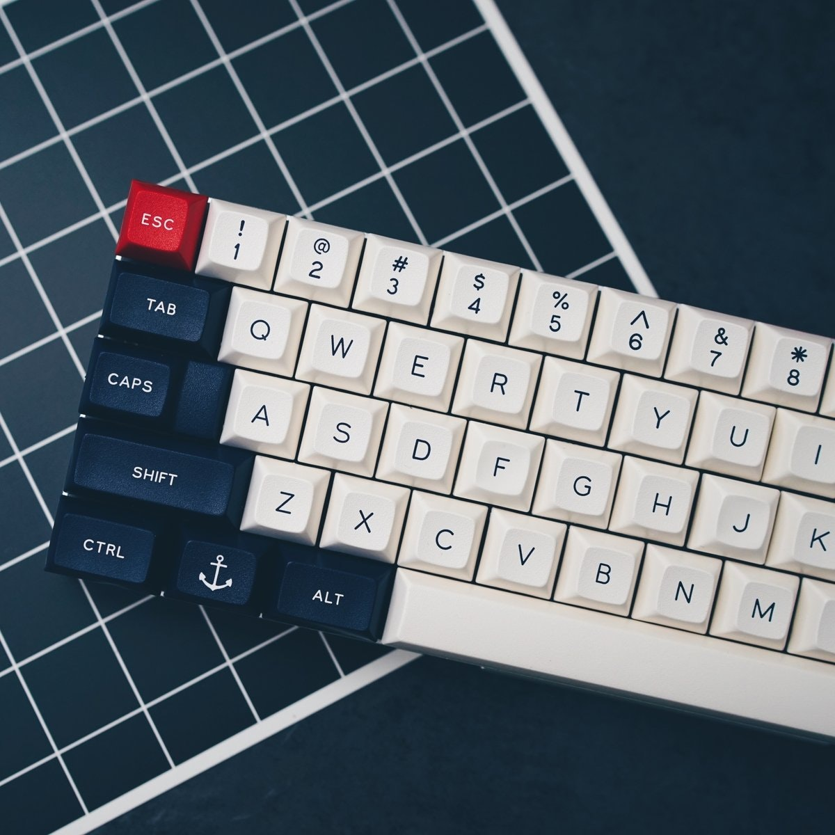 UK-Keycaps — DSA Royal Navy Double-Shot Keyset