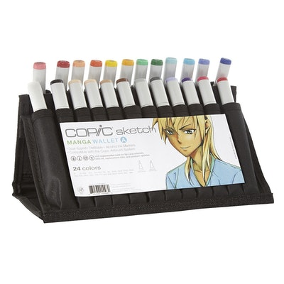 Copic Sketch Markers - 24pc Sketch Manga Wallet A