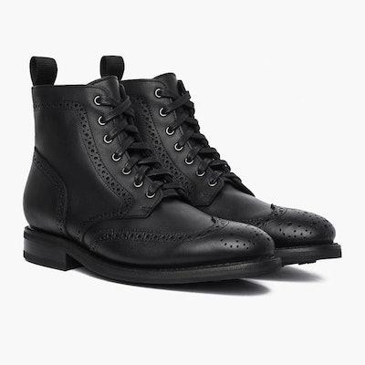 Black Wingtip Boot | Thursday Boot Company                     Arrow Fat Le