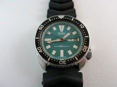 Seiko Divers Mens Watch 6309-7290 Green Dial