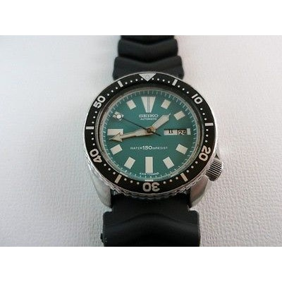 Seiko Divers Mens Watch 6309-7290 Green Dial