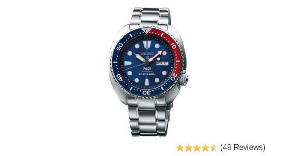 Amazon.com: Seiko SRPA21 Padi Automatic Prospex Pepsi Turtle Divers 200M Men's W