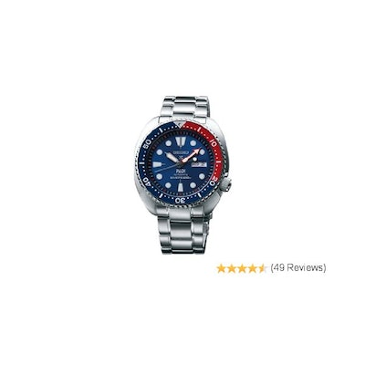 Amazon.com: Seiko SRPA21 Padi Automatic Prospex Pepsi Turtle Divers 200M Men's W