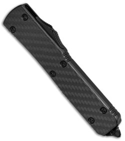 "Microtech Ultratech S/E OTF Knife Carbon Fiber (3.4"" Black) 121-1CF - Blade HQ"
