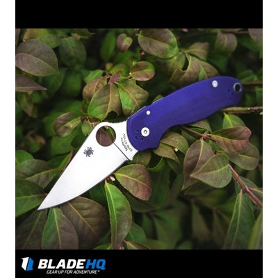 "Spyderco Para 3 Compression Lock Knife Dark Blue G-10 (3"" Satin S110V) C223GPDBL"