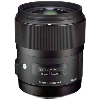 Sigma 35mm f/1.4 DG HSM Art Lens for Nikon DSLR Cameras 340306