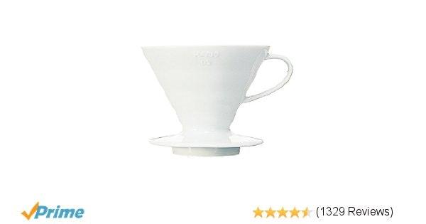 Amazon.com: Hario V60 Ceramic Coffee Dripper (Size 02, White): Coffee Pots: Kitc