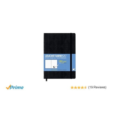 Amazon.com : Leuchtturm1917 Hardcover Medium Sketchbook Black : Office Products