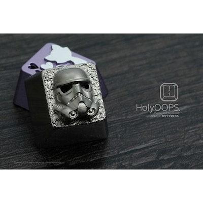 HolyOOPS Stormtrooper Backlit Titanium Keycap - GeekKeys