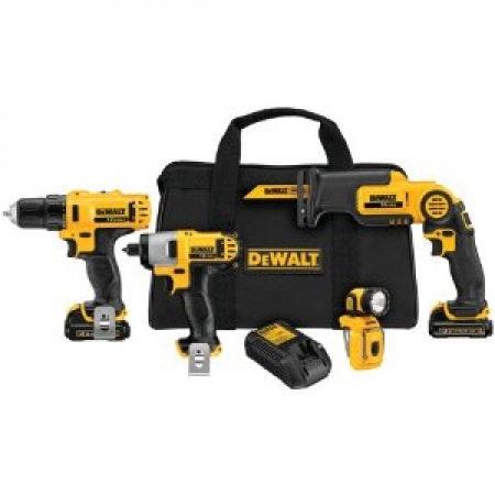 DEWALT DCK413S2 12-Volt MAX 4-Tool Combo Kit
