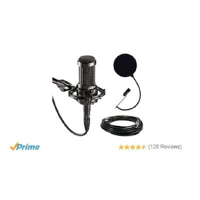 Amazon.com: Audio-Technica AT2035 Large Diaphragm Studio Condenser Microphone Bu