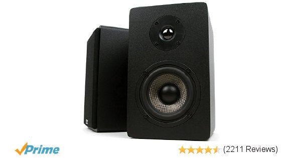 Amazon.com: Micca MB42X Bookshelf Speakers With 4-Inch Carbon Fiber Woofer and S