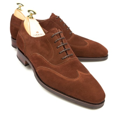 Suede Simpson Oxford Shoes | CARMINA