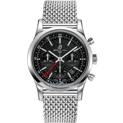 ab045112/bc67-ss Breitling Transocean Chronograph GMT Mens Watch