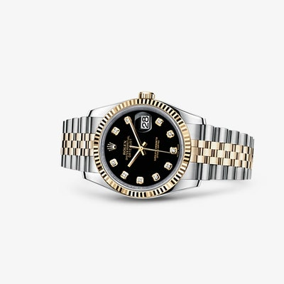 Rolex Datejust 36 Watch: Yellow Rolesor - combination of 904L steel and 18 ct ye