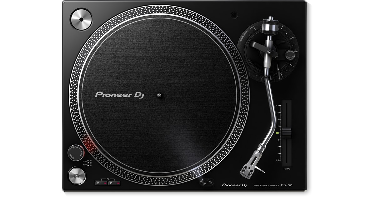 PLX-500 High-torque, direct drive turntable (black) - Pioneer DJ