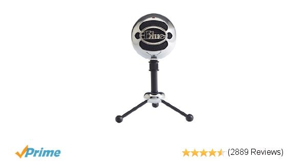 Amazon.com: Blue Snowball USB Microphone (Brushed Aluminum): Musical Instruments