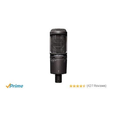 Amazon.com: Audio-Technica AT2020USB PLUS Cardioid Condenser USB Microphone: Mus