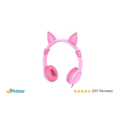 iClever BoostCare Kids Headphones, Wired Over Ear Headphones with Ca