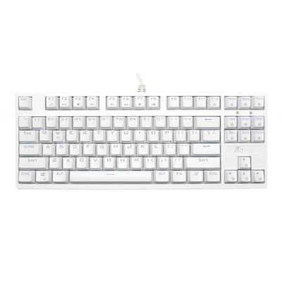 Royal Kludge RG-987 White Case Mechanical Keyboard 10 keyless