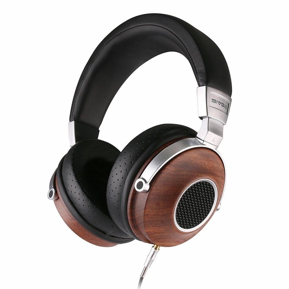 Wood Over Ear Deep Bass Headphones with Open Back Design