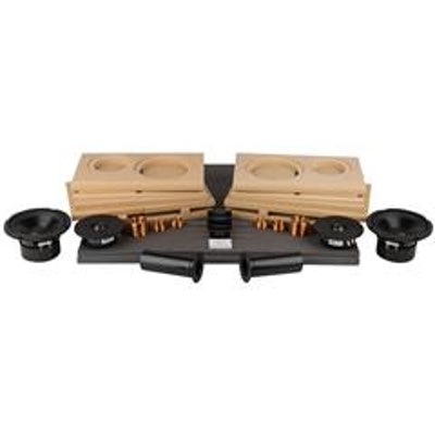 Tritrix MT Bookshelf Speaker Kit Pair with Knock-Down Cabinets