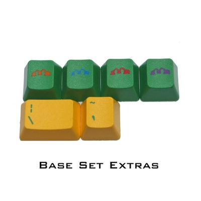 4 Turtle Mask Keyboard Cap Set