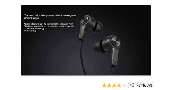 Amazon.com: Xiaomi Piston III Headphone Xiaomi Headset Earphones with Remote & M