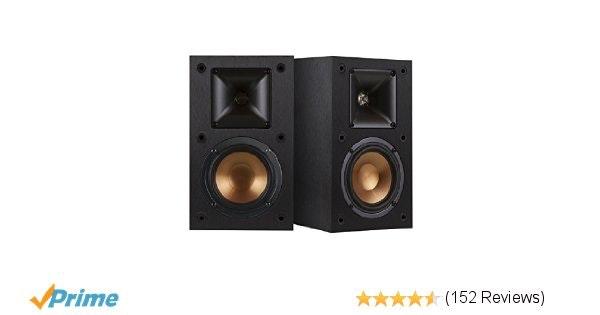 Amazon.com: Klipsch R-14M 4-Inch Reference Bookshelf Speakers (Pair, Black): Ele