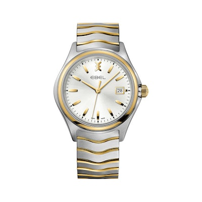 EBEL   Men's Watch EBEL Wave, stainless steel and 18K yellow gold case, silver g