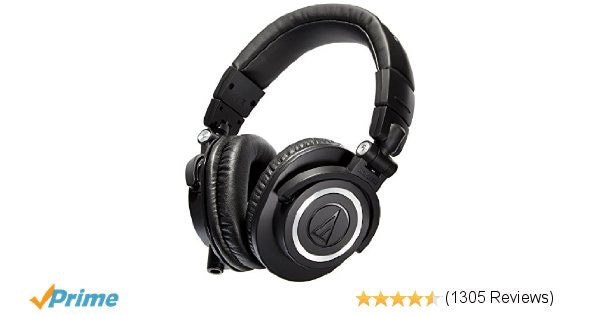 Audio-Technica ATH-M50X Studio Monitor Professional Headphones - Black: Amazon.c