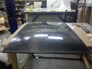 Subaru GRB Hatchback Carbon Fiber Roof Panel | Aerosim Research
