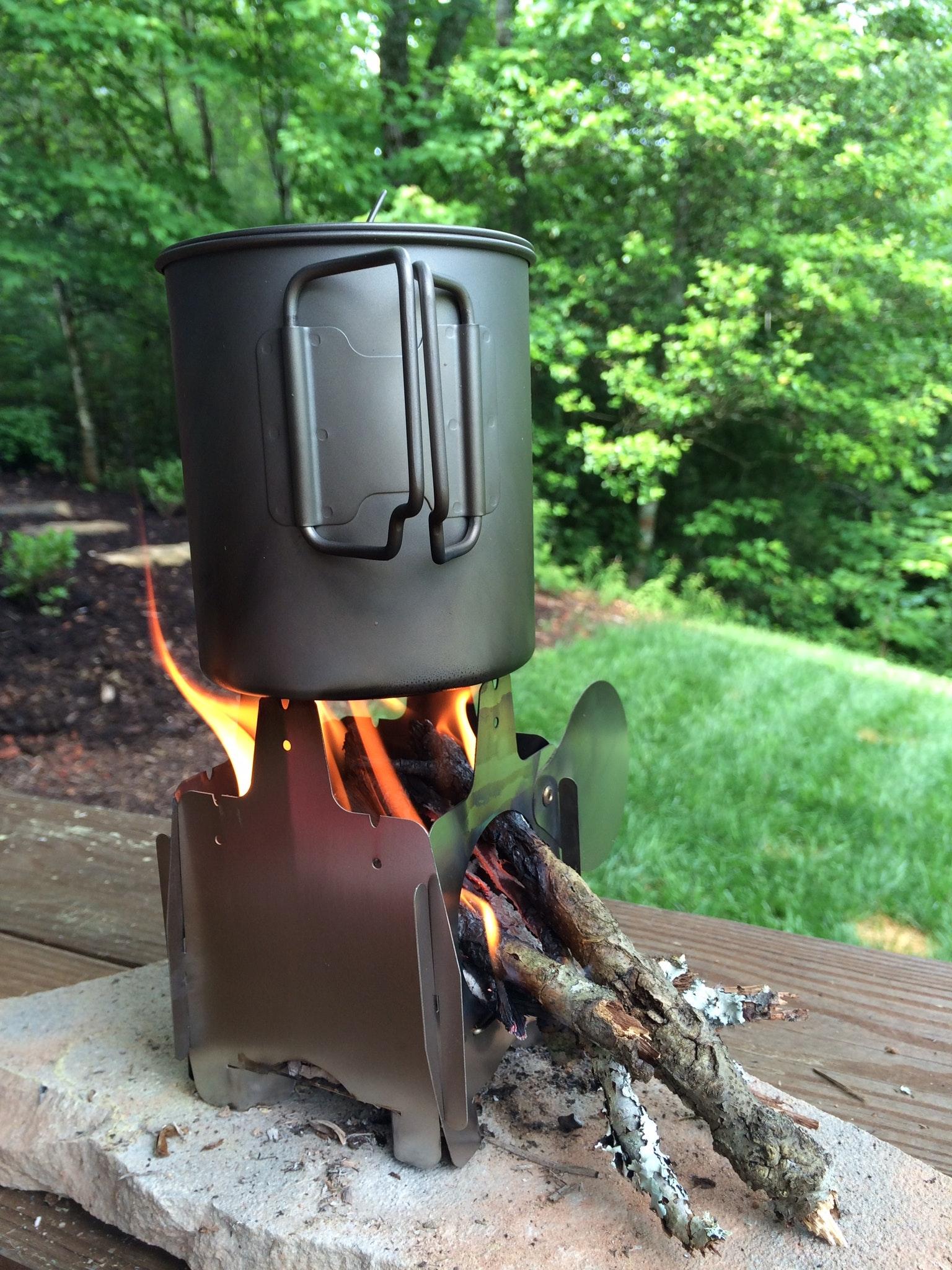 FireFly ultralight titanium wood stove 2.8 oz
