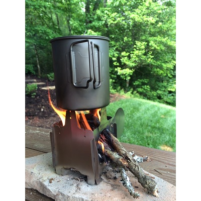 FireFly ultralight titanium wood stove 2.8 oz