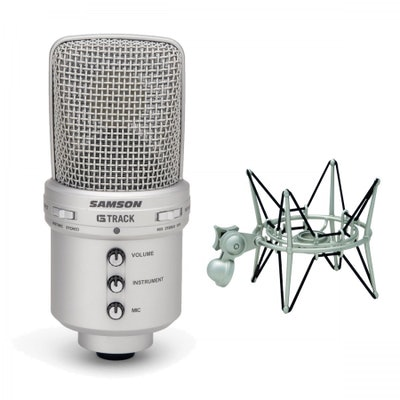 Amazon.com: Samson G-Track USB Condenser Microphone With Shockmount: Musical Ins