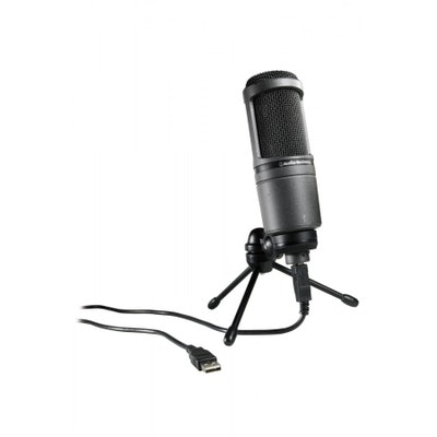 Amazon.com: Audio-Technica AT2020USB Cardioid Condenser USB Microphone: Musical