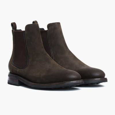 Men's Olive Suede Duke Chelsea Boot | Thursday Boot Company