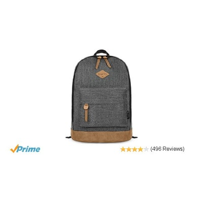 Amazon.com: EcoCity Classic Vintage College School Laptop Backpack Bag Pack Supe